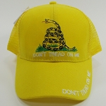 DON'T TREAD ON ME HAT MIXED BLACK AND YELLOW (ONE DOZEN)