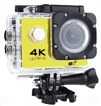 4K ACTION SPORTS CAM WITH WIFI YELLOW