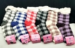 THICK SHERPA SOCKS WITH FLEECE LINING (DOZEN) PLAID