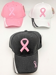BREAST CANCER AWARENESS HAT (ONE DOZEN) MIXED COLORS