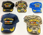 VIETNAM VETERAN HAT (ONE DOZEN) MIXED COLORS