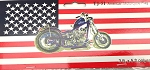 USA FLAG WITH MOTORCYCLE 3'X5'