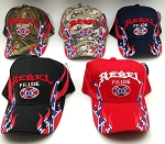 REBEL PRIDE HAT W/FLAMES (ONE DOZEN) MIXED COLORS