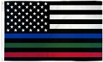 THIN BLUE, GREEN, RED LINE FLAG