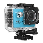 4K ACTION SPORTS CAM WITH WIFI BLUE