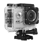 4K ACTION SPORTS CAM WITH WIFI SILVER